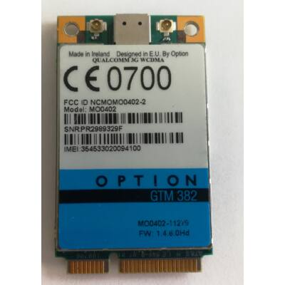 Option GTM382 3G kártya